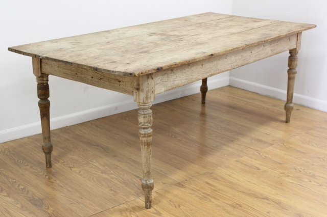 English Provincial Pine Farmhouse Table