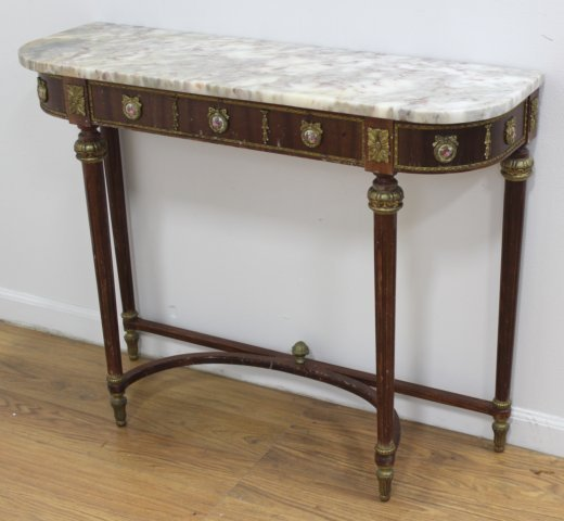 Marble Top Console with Mirror - 3