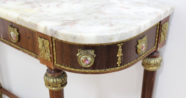 Marble Top Console with Mirror - 5