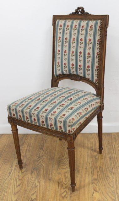Pair Louis XVI Style Side Chairs - 2