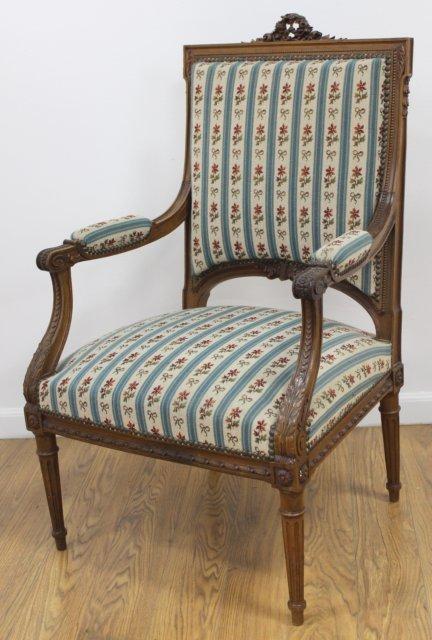 Pair Louis XVI Style Armchairs - 2
