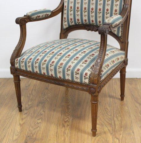 Pair Louis XVI Style Armchairs - 3