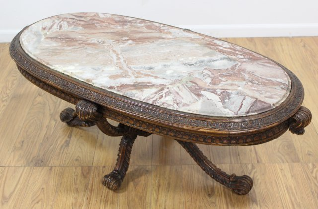 Carved Prince of Wales Style Coffee Table - 2