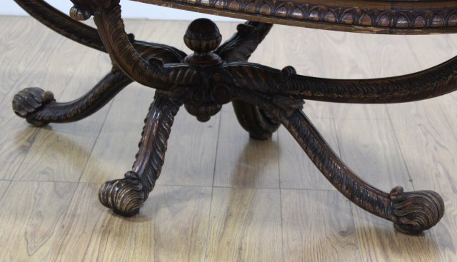 Carved Prince of Wales Style Coffee Table - 3
