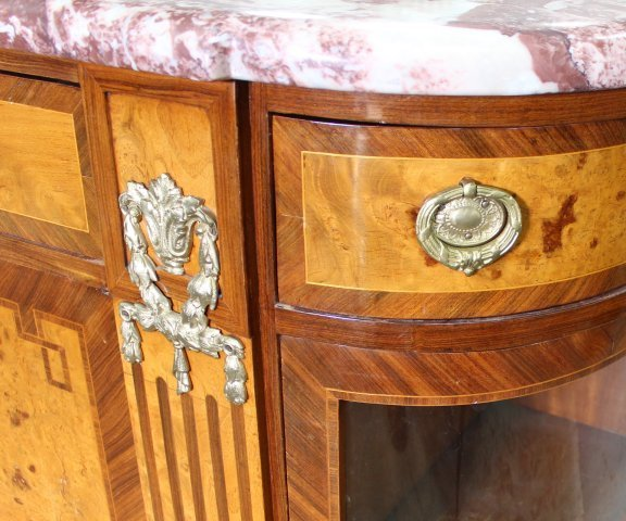 French 1930s Style Server Cabinet - 4