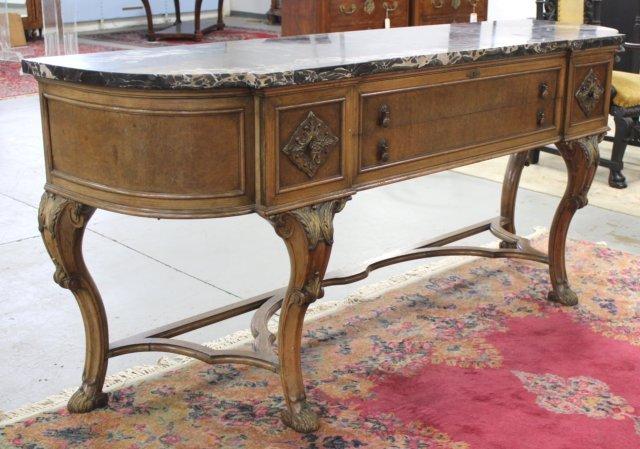Marble Top 2-Drawer Sideboard - 2