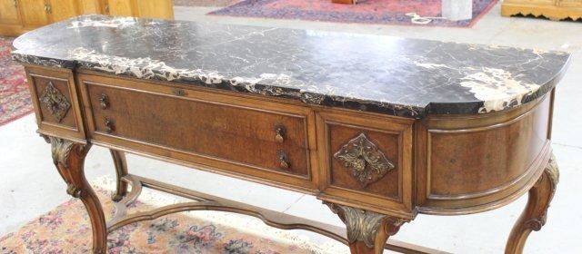 Marble Top 2-Drawer Sideboard - 3