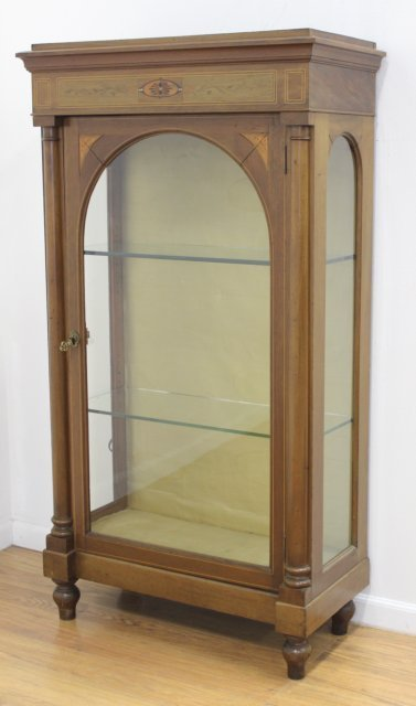 Continental Inlaid Display Cabinet