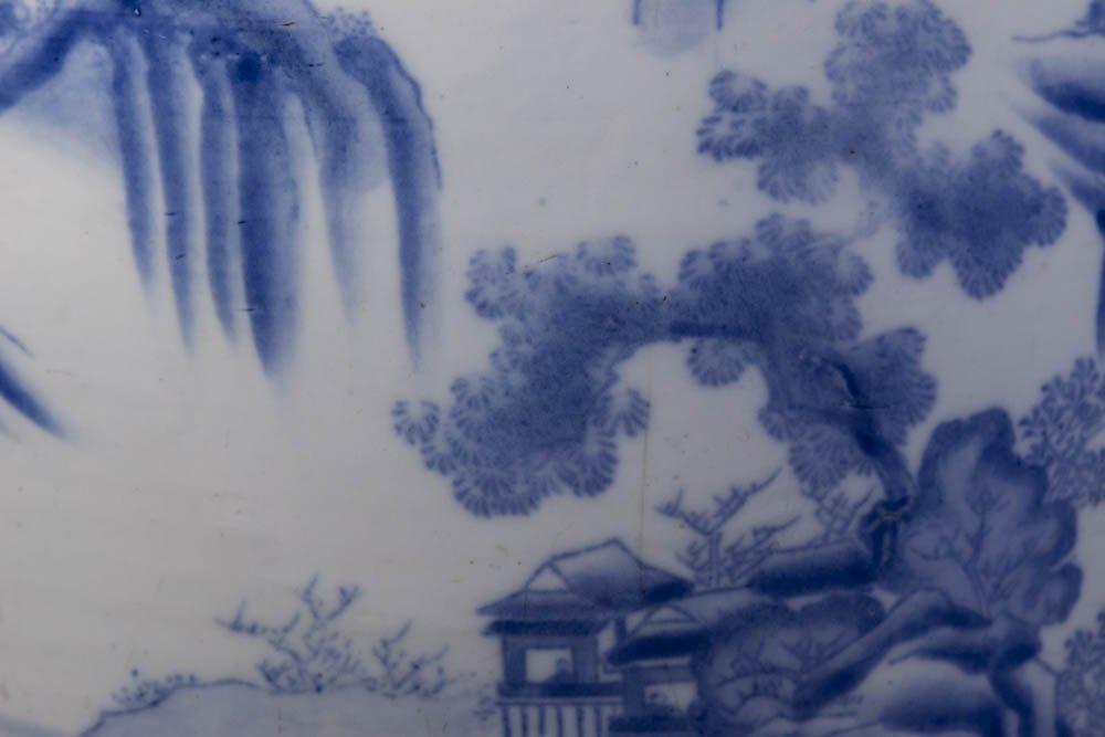 Chinese Porcelain Blue & White Planter - 2
