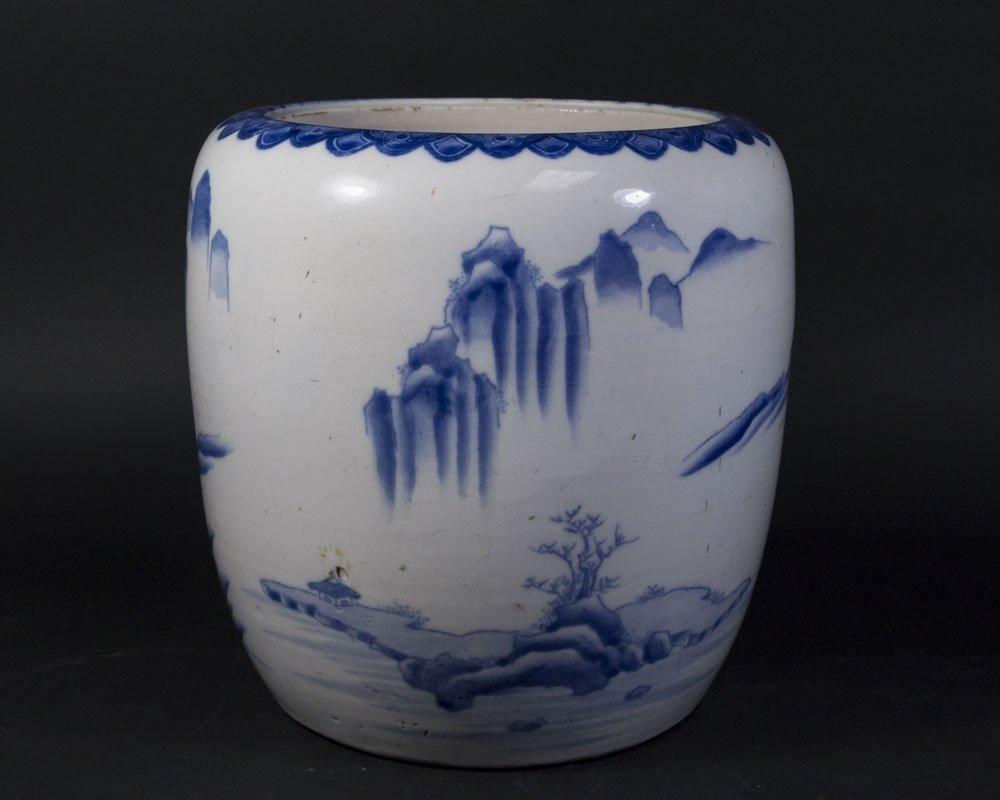 Chinese Porcelain Blue & White Planter - 3