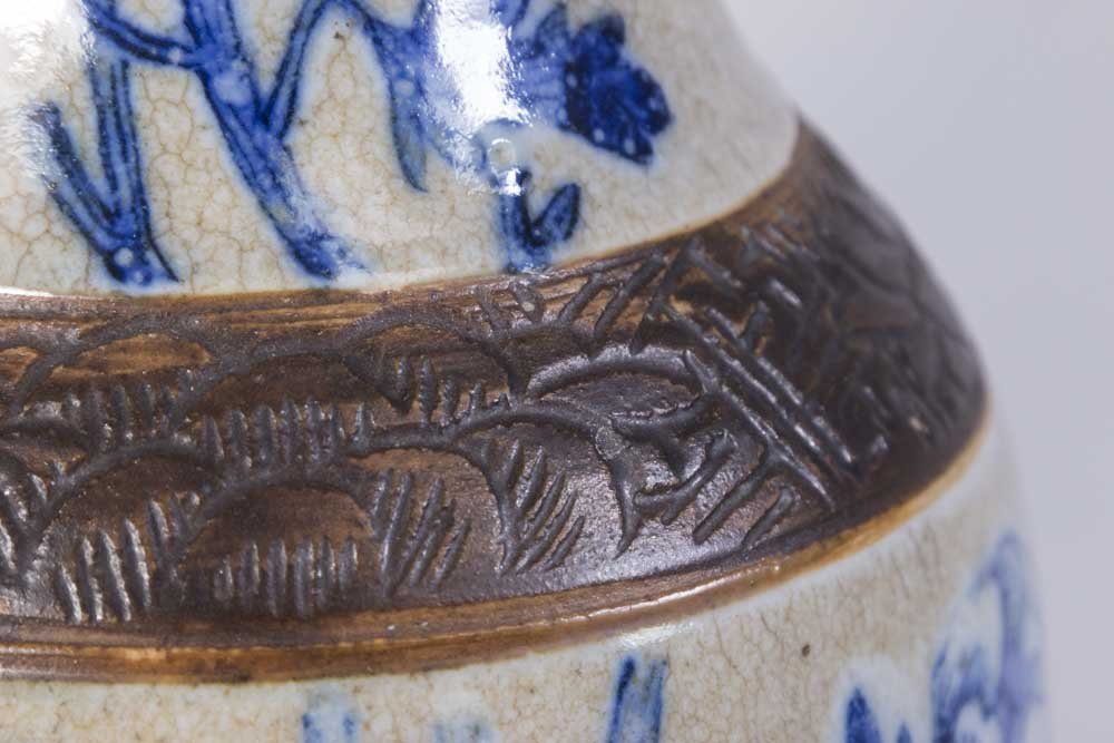 Chinese Porcelain Blue & White Vase - 2