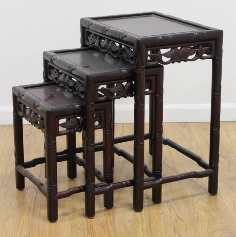 Chinese Hardwood Nest of Tables
