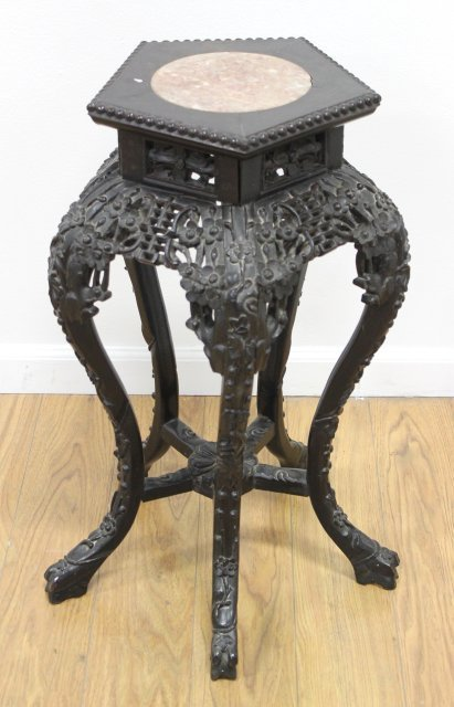 Chinese 5 Legged Teak Wood Pedestal