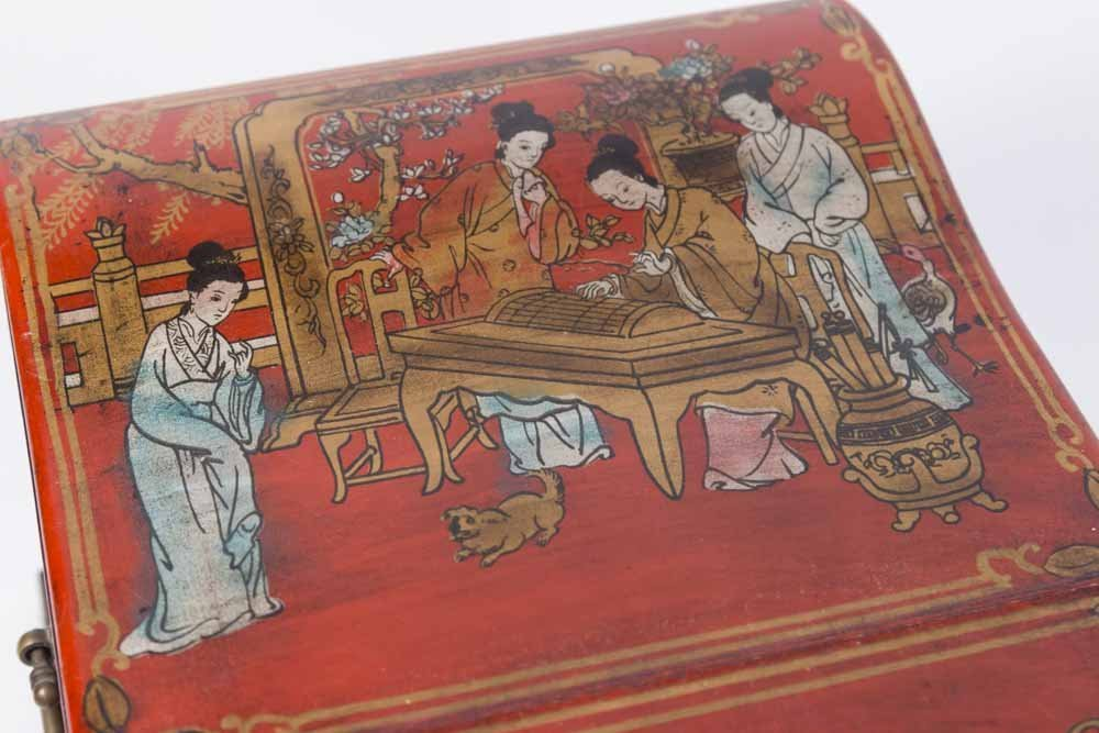 Japanese Decorated Jewelry Chest - 2