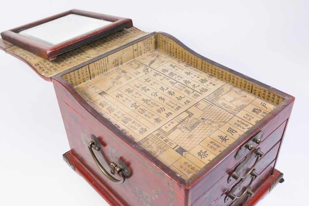 Japanese Decorated Jewelry Chest - 8
