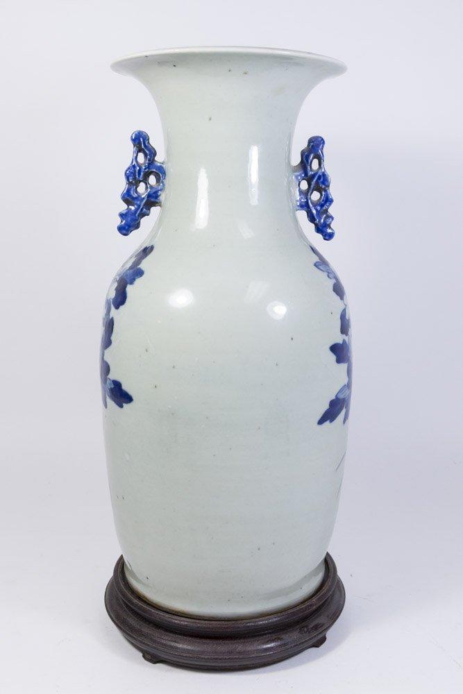 Asian Blue & White Porcelain Vase - 2