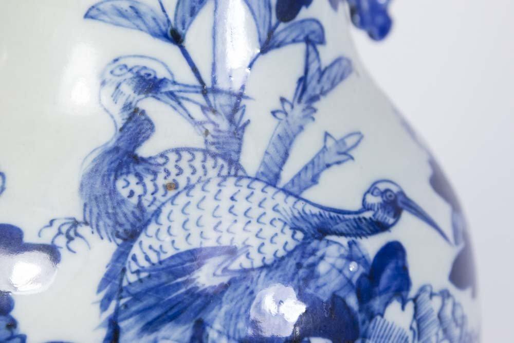 Asian Blue & White Porcelain Vase - 3