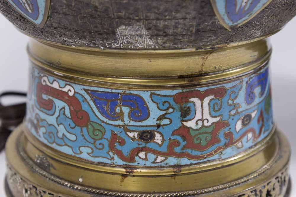 2 Chinese Cloisonné Vases - 3