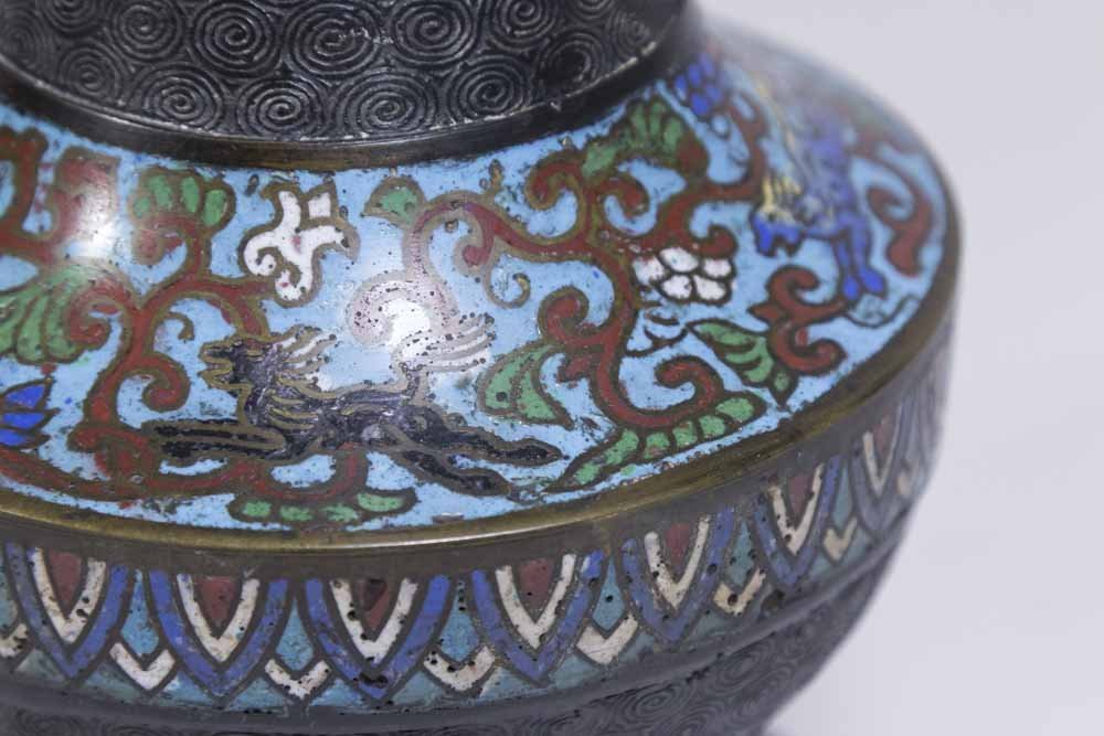 2 Chinese Cloisonné Vases - 5