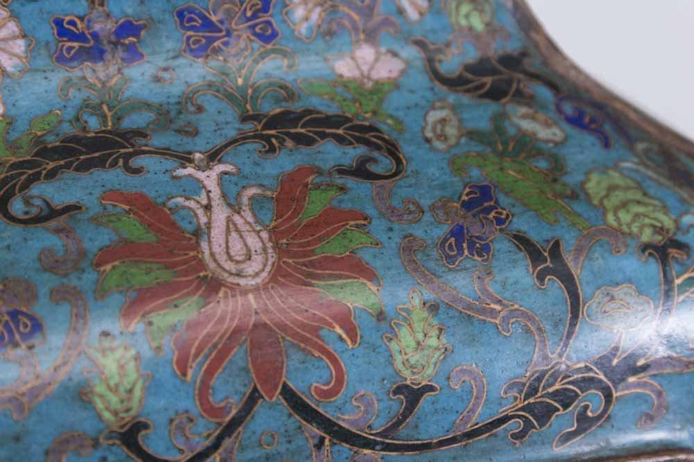 Asian 4-Panel 19th Century Cloisonné Vase - 2