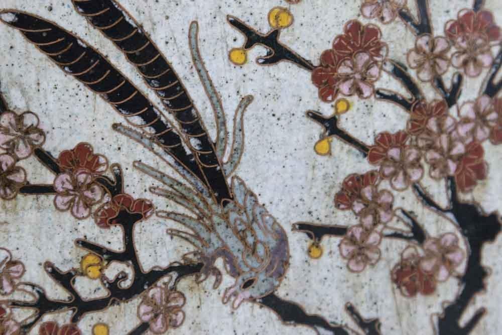 Asian 4-Panel 19th Century Cloisonné Vase - 3