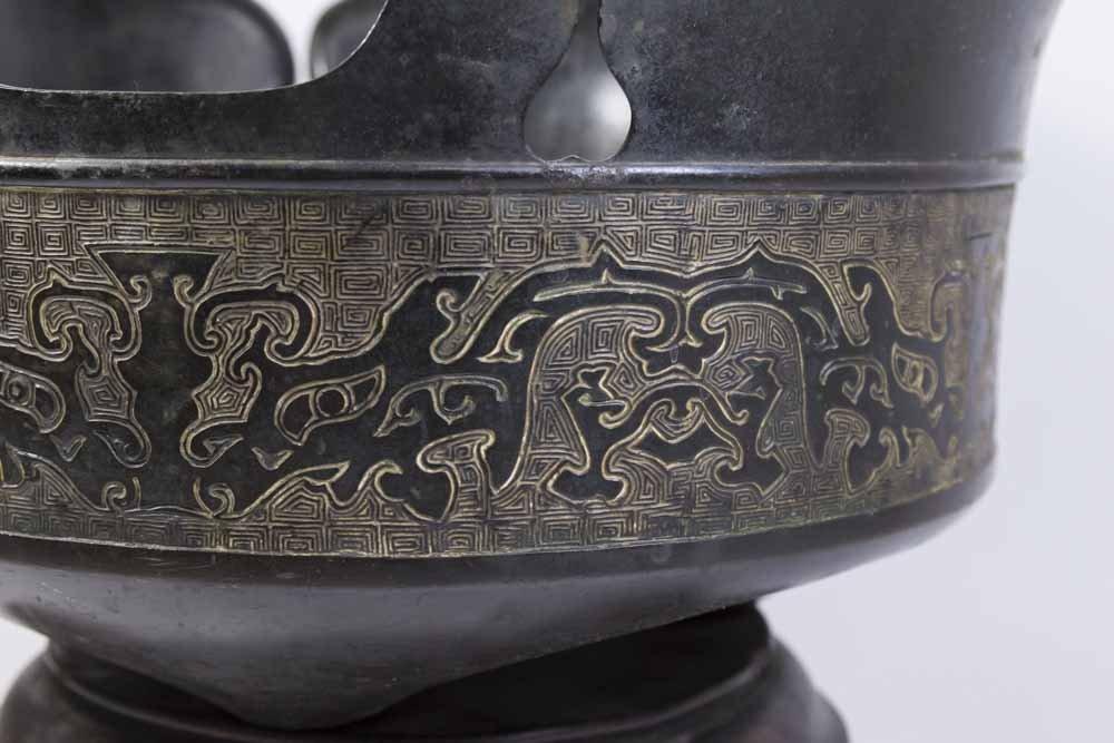 Chinese Bronze Hat-Shaped Incense Burner - 2