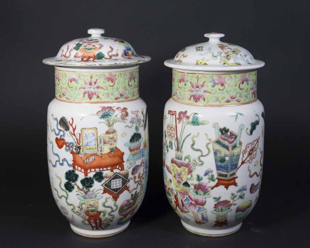 2 Chinese Porcelain Ginger Jars