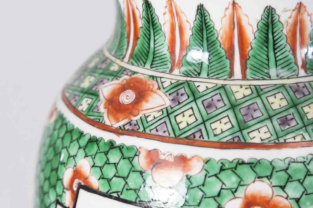 Pair Chinese Porcelain 2-Panel Famille Rose Vases - 5