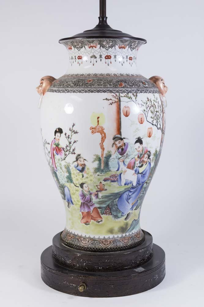 Famille Rose Chinese Porcelain Vase - 2