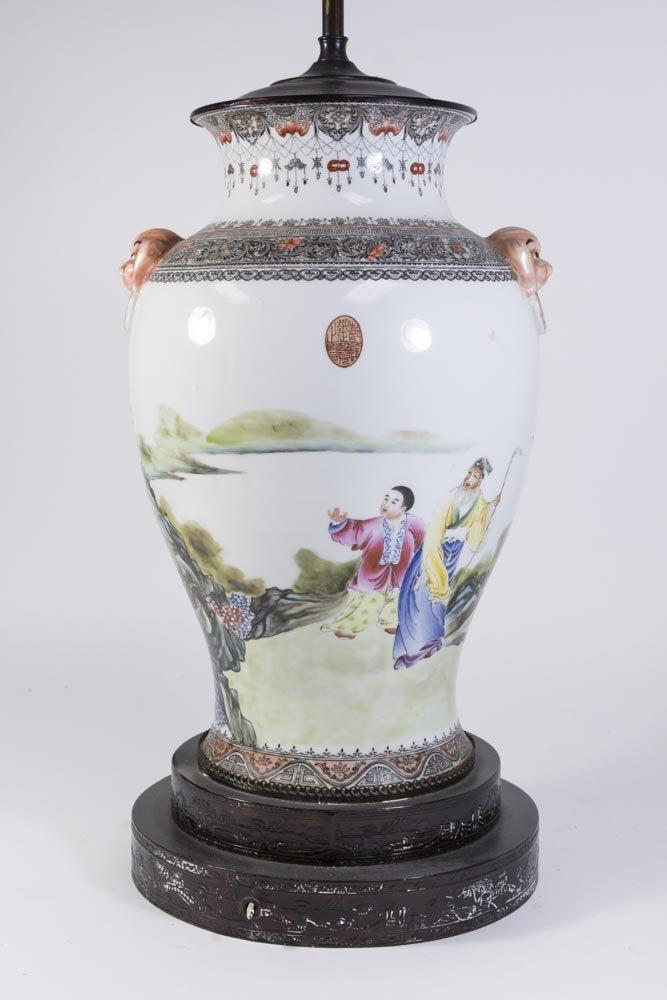 Famille Rose Chinese Porcelain Vase - 8