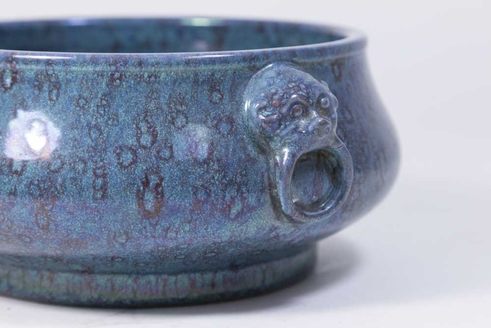Chinese Robin's Egg Porcelain Censer - 2