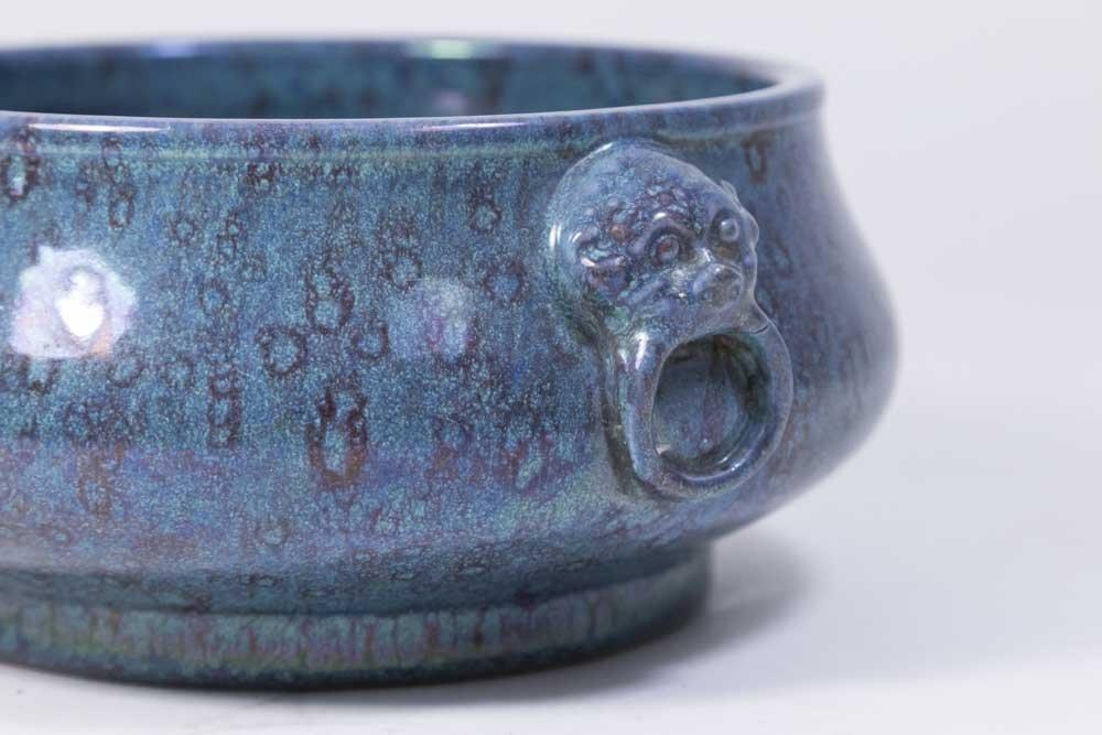 Chinese Robin's Egg Porcelain Censer - 2