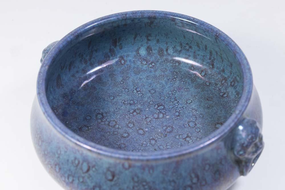 Chinese Robin's Egg Porcelain Censer - 3