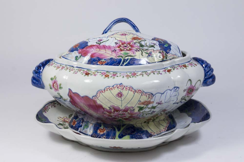 Chinese Porcelain Tureen & Underplate