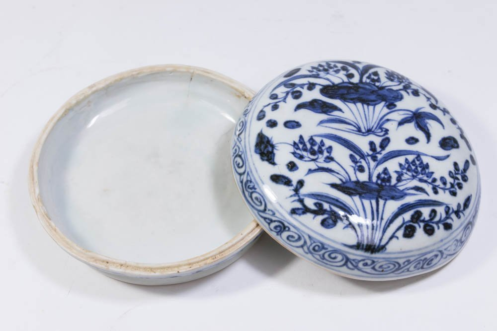 2 Blue & White Chinese Porcelain Pieces - 3