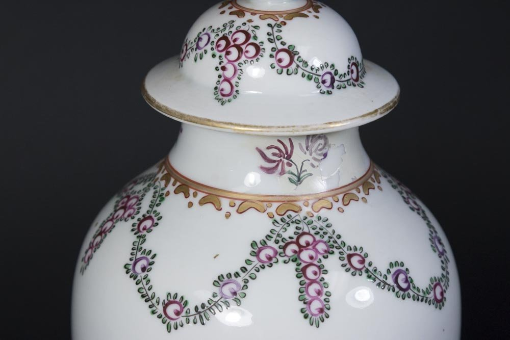 Chinese Export Porcelain Covered Vase - 3