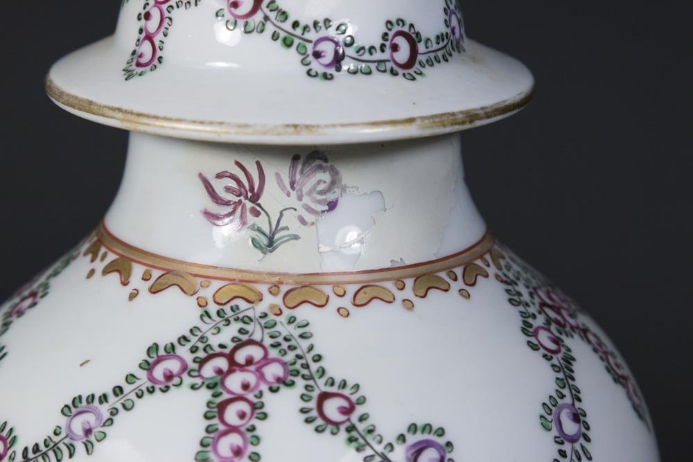 Chinese Export Porcelain Covered Vase - 4