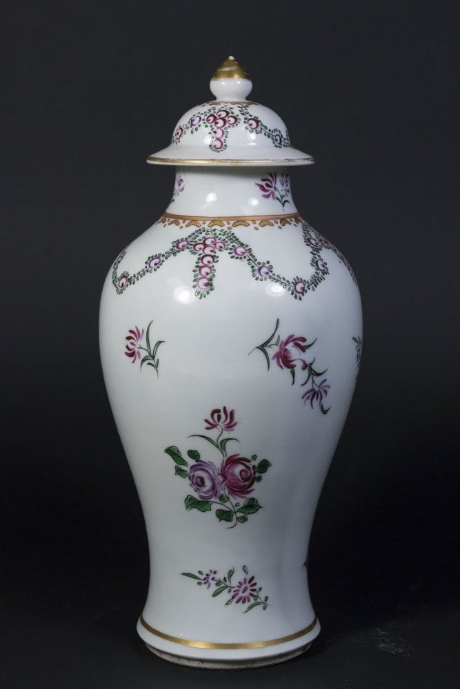 Chinese Export Porcelain Covered Vase - 6