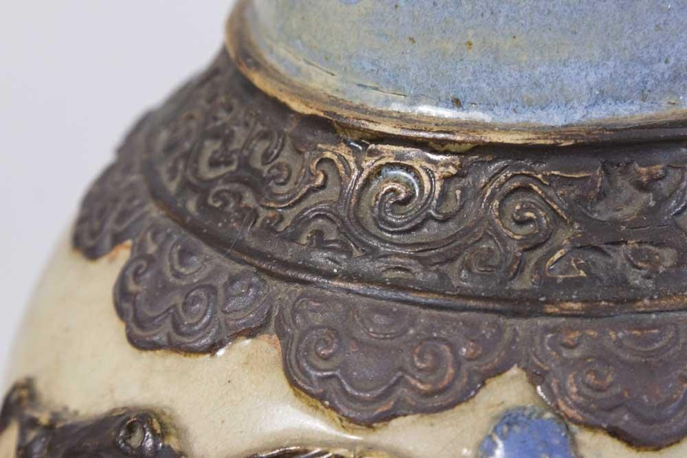Chinese Canton Stoneware Vase - 4