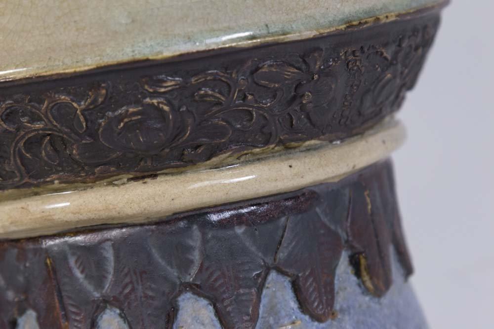 Chinese Canton Stoneware Vase - 5