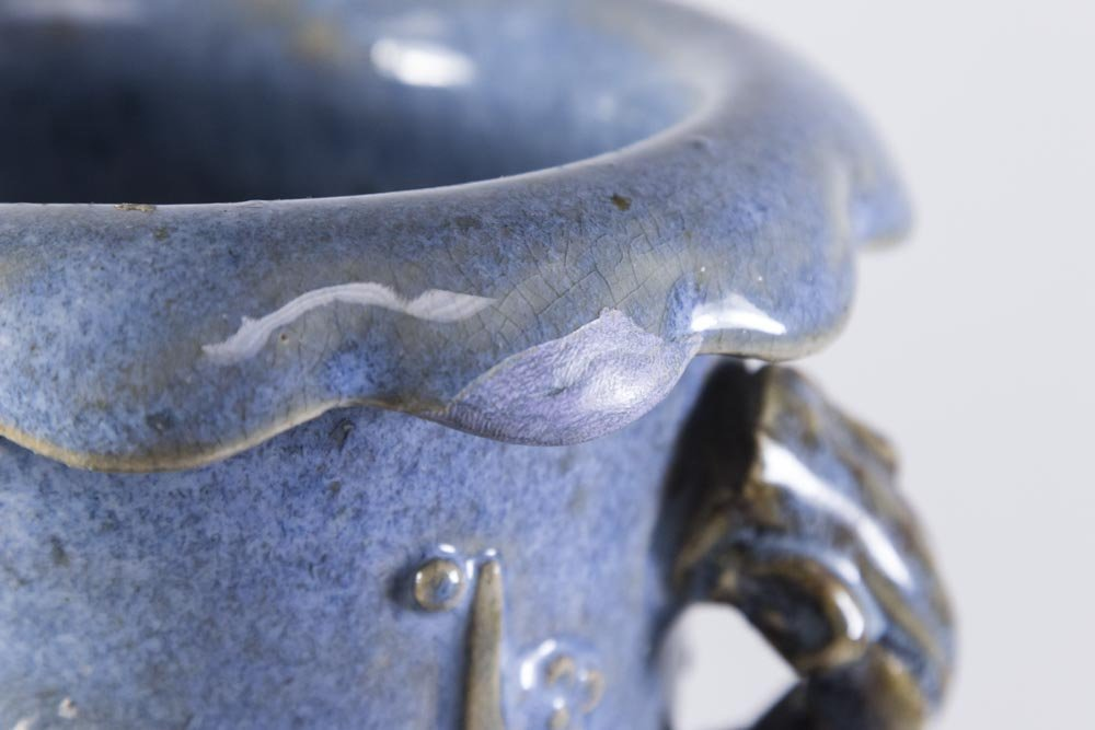 Chinese Canton Stoneware Vase - 7