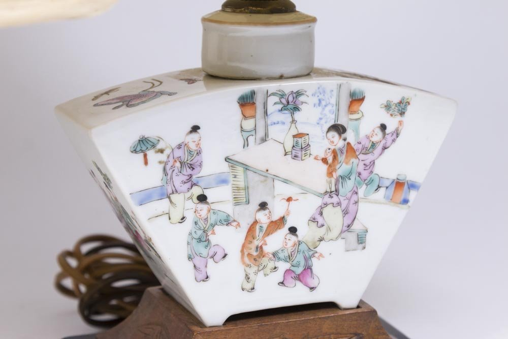Pair Chinese Porcelain Tea Caddies - 2