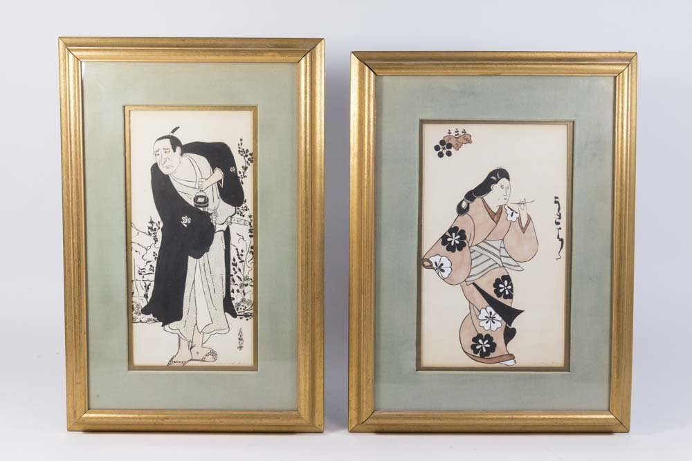 Pair  Japanese Prints