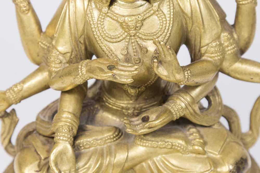 Gilt Bronze Tibetan Multi-Armed Deity - 2