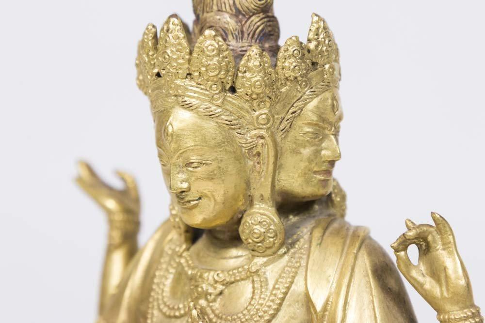 Gilt Bronze Tibetan Multi-Armed Deity - 3