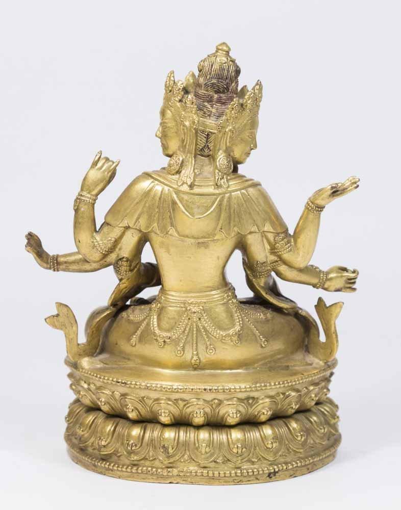 Gilt Bronze Tibetan Multi-Armed Deity - 4