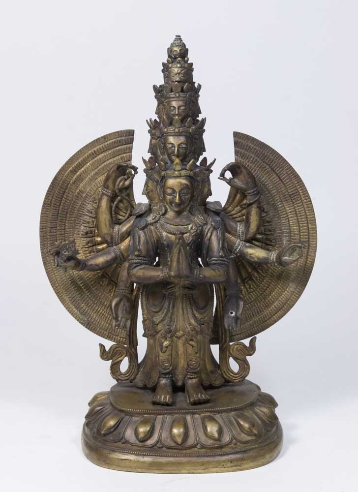 Gilt Bronze Tibetan Multi-Armed Figure