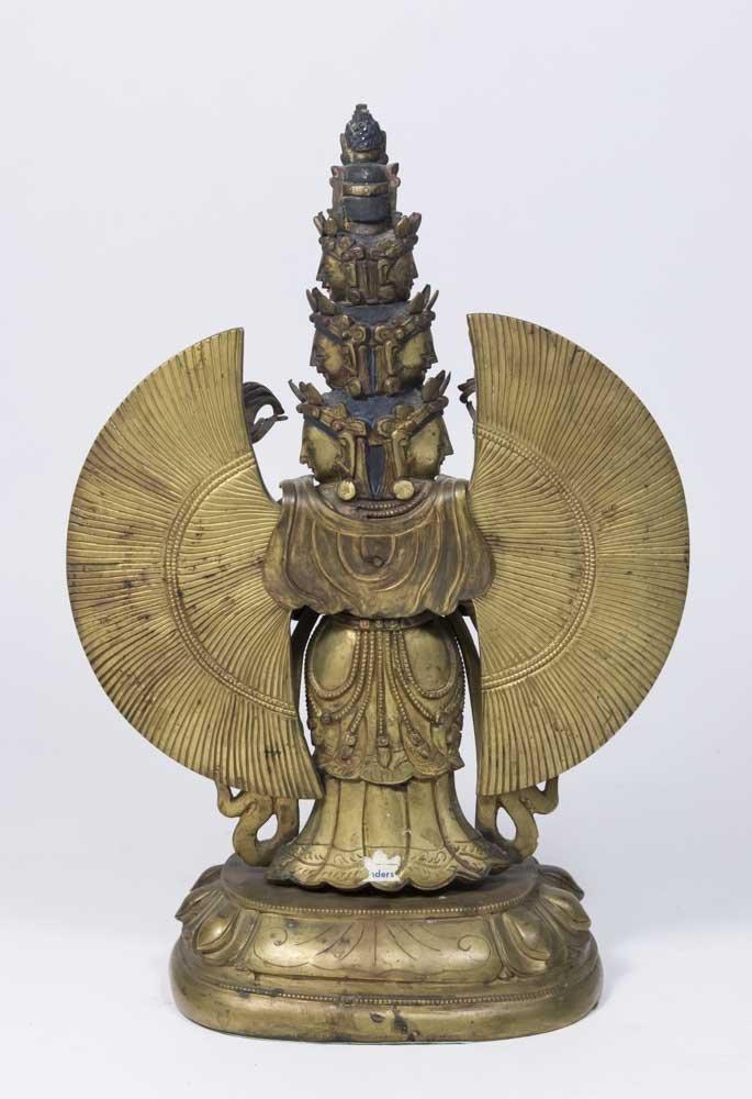 Gilt Bronze Tibetan Multi-Armed Figure - 4