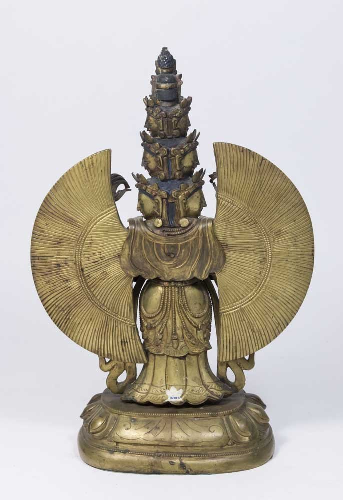 Gilt Bronze Tibetan Multi-Armed Figure - 4
