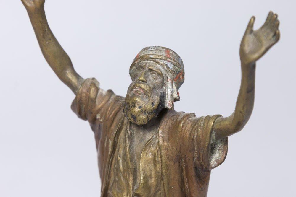 Austria Orientalist Bronze, Praying Man on Carpet - 2